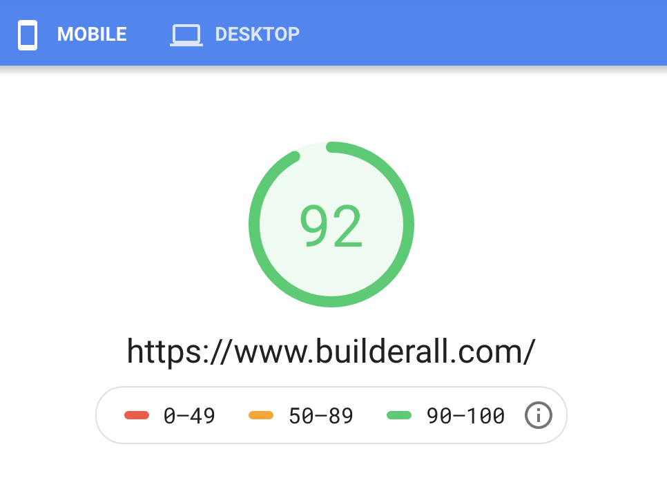 Builderall Speed